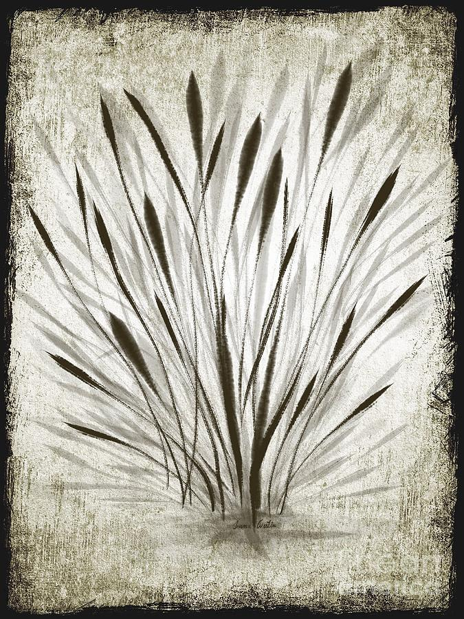 Ink Drawing - Ink Grass by Ivana Westin