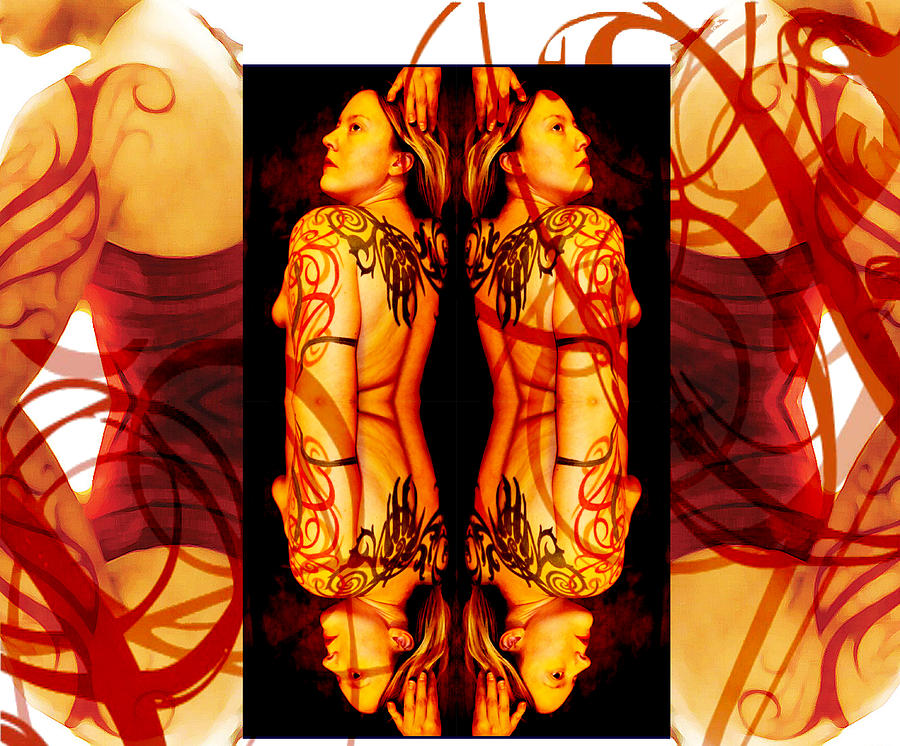 Abstract Photograph - Ink Sisters 8 by Erika Brown