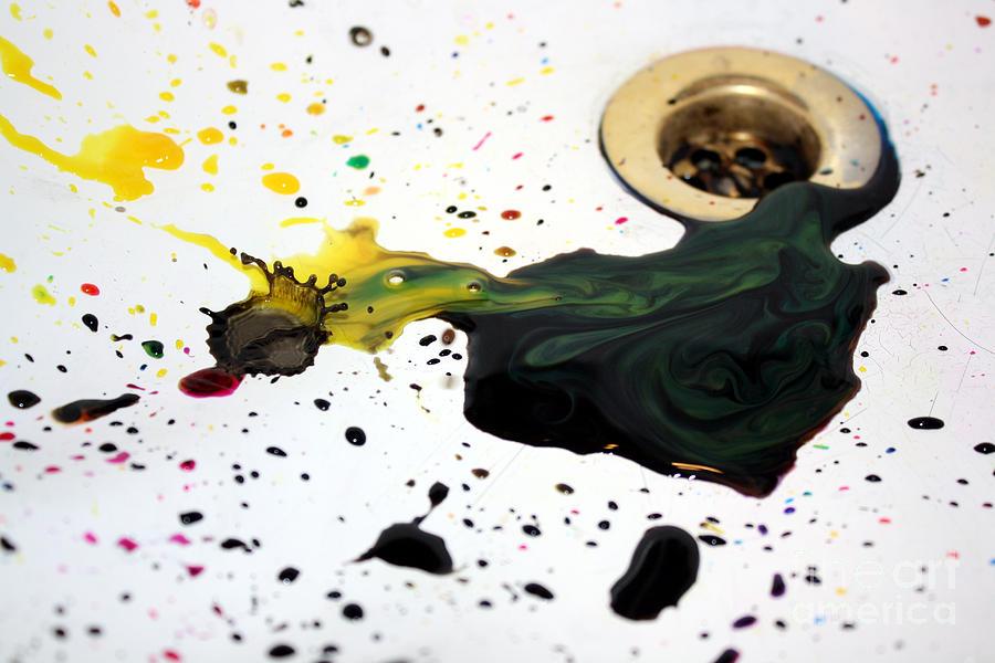 Macro Photograph - Ink Splash by Balanced Art