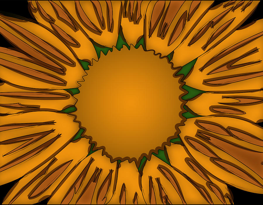 Ink Painting - Ink Sunflower by Christopher Sprinkle