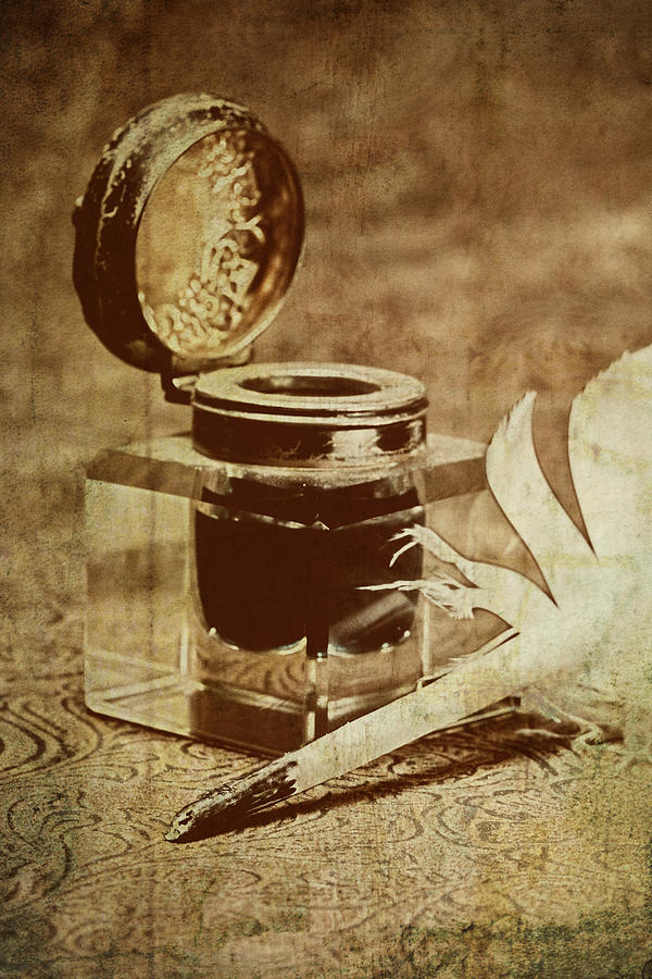 Antique Photograph - Inkwell V by Tom Mc Nemar