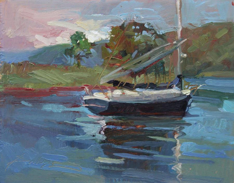 Plein Air Painting Painting - Inland Bay - Catalina Island by Betty Jean Billups