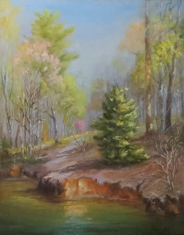 Inlet Painting - Inlet-spring, Mcdowell by Inka Zamoyska