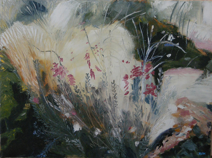 Flowers Painting - Inner Garden by Antoaneta Melnikova- Hillman