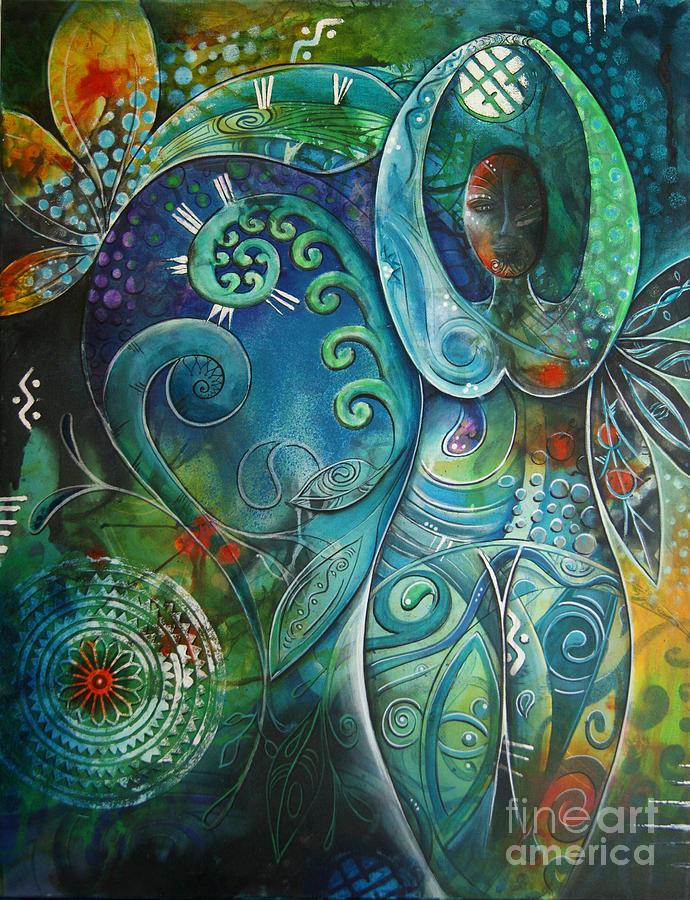 Goddess Painting - Inner Goddess By Reina Cottier by Reina Cottier