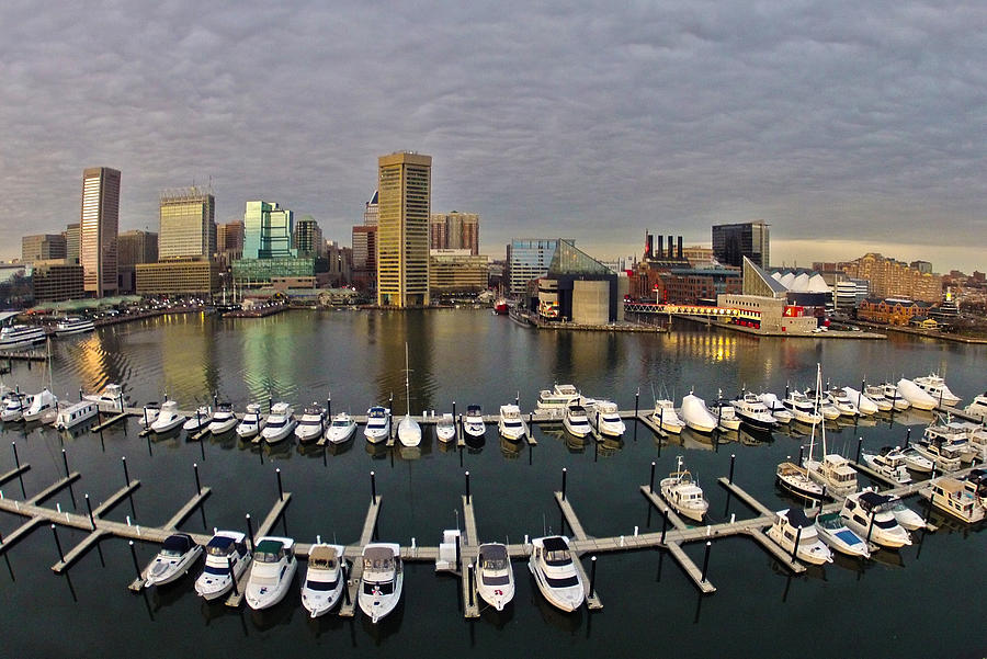 Baltimore Photograph - Inner Harbor by Elevated Element