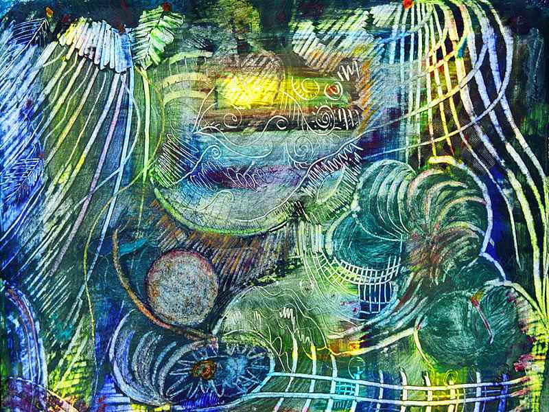 Journey Painting - Inner Journey by Ishwar Malleret