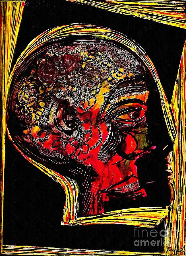 Head Mixed Media - Inner Man by Sarah Loft
