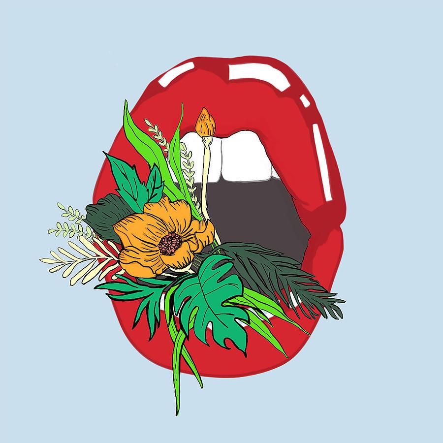 Floral Digital Art - Inner Oasis by Brittany Everette