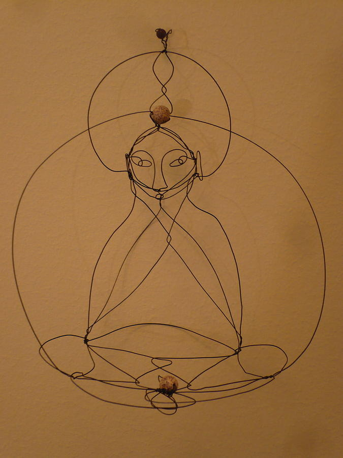 Buddha Sculpture - Inner Peace by Live Wire Spirit