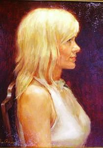 Portrait Of A Woman Painting - Inner Profile by Ron Barsano