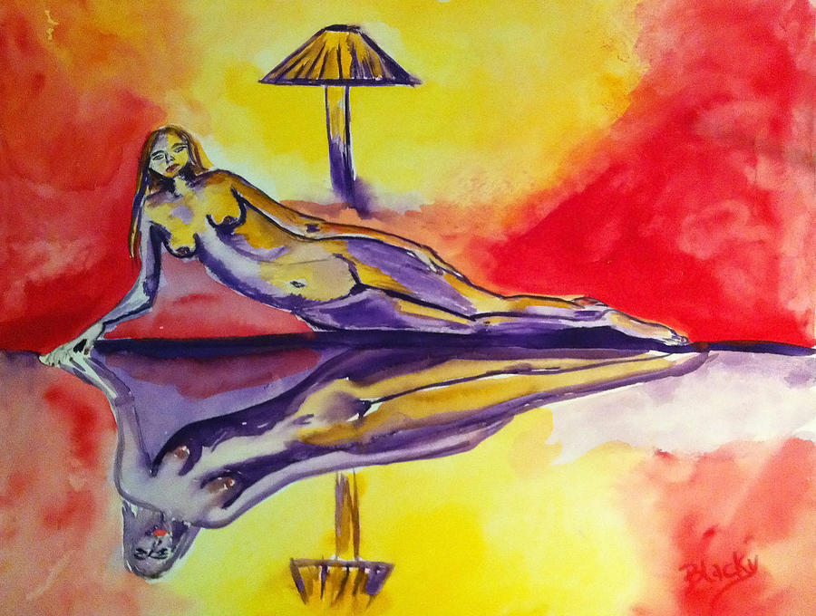 Woman Painting - Inner Reflections by Donna Blackhall