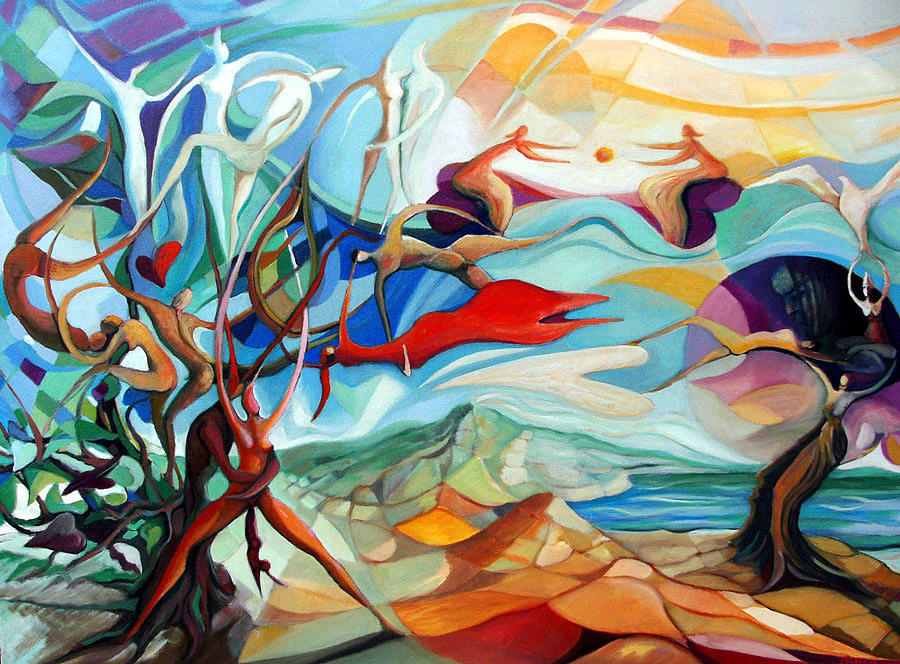 Umberto Painting - Inno Alla Vita by Umberto Mazzone