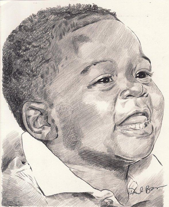 Innocence Drawing by Darryl Barnes