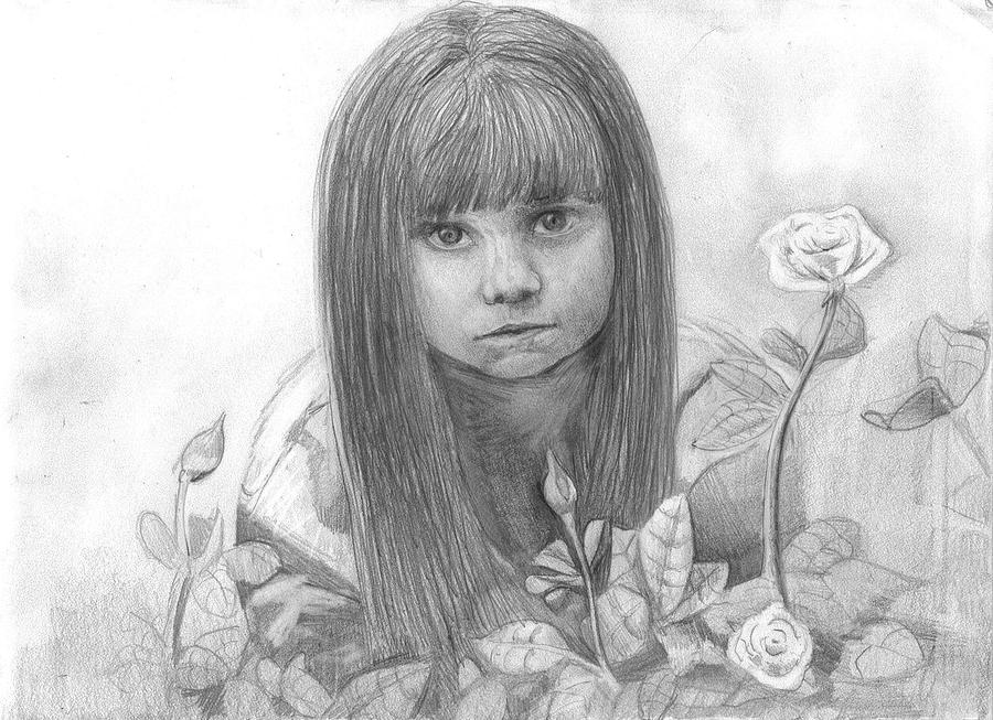 Innocence Drawing by Katie Alfonsi