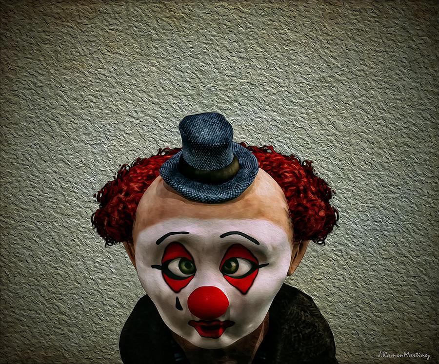 Clown Digital Art - Innocence by Ramon Martinez