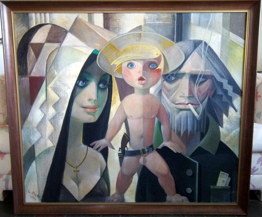 Stain Glass Painting - Innocence To Crime by Conrad Pickel