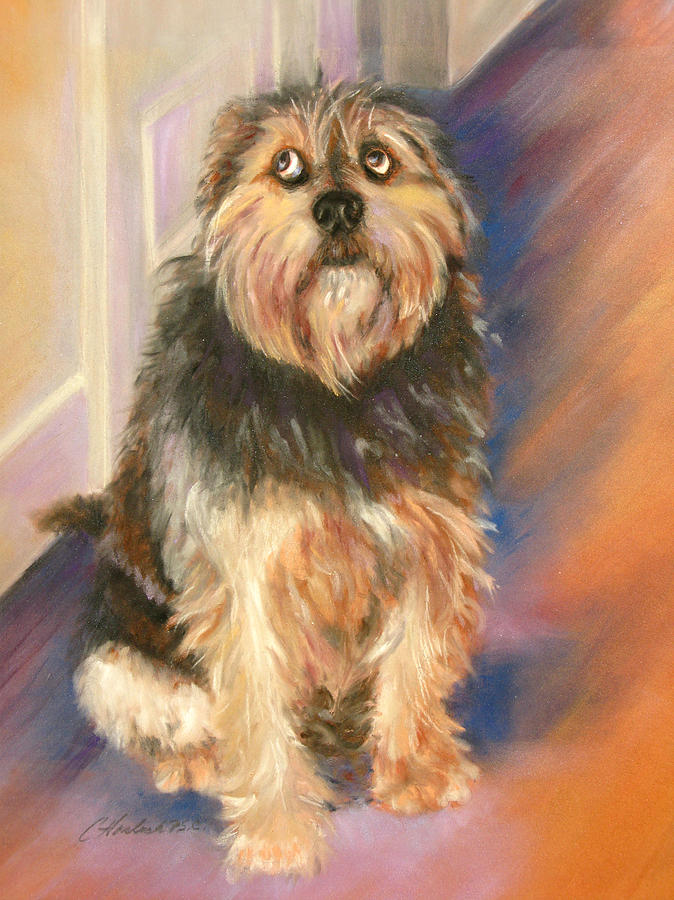 Dogs Pastel - Innocent Eyes by Carole Haslock