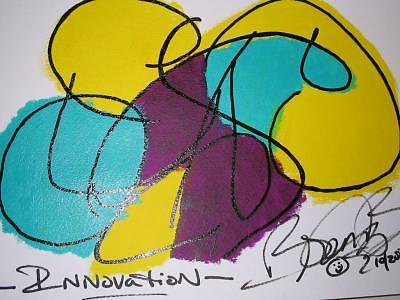 Abstract Painting - Innovation by Brenda Basham Dothage