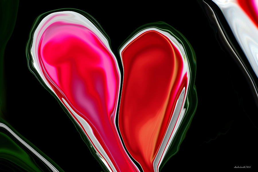 Abstract Digital Art - Inpaitient Heart For Haiti by Michelle  BarlondSmith