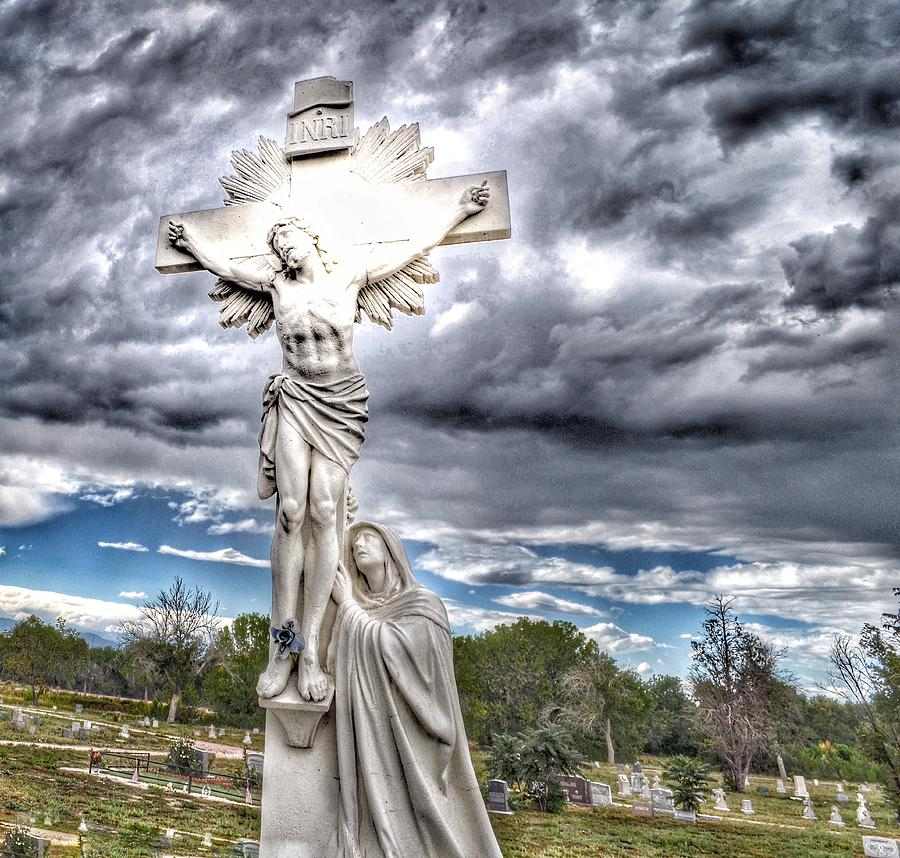 INRI Riverside Cemetery  by Gia Marie Houck