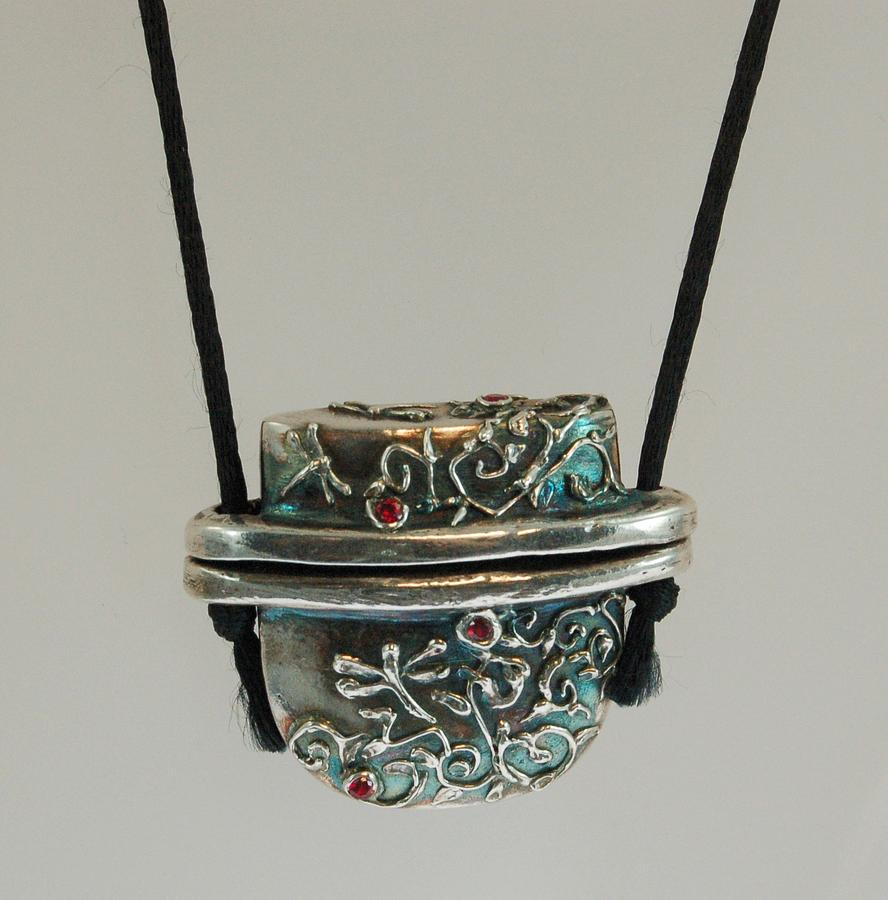 Inro Jewelry - Inro Box Pendant by DeLa Hayes Coward