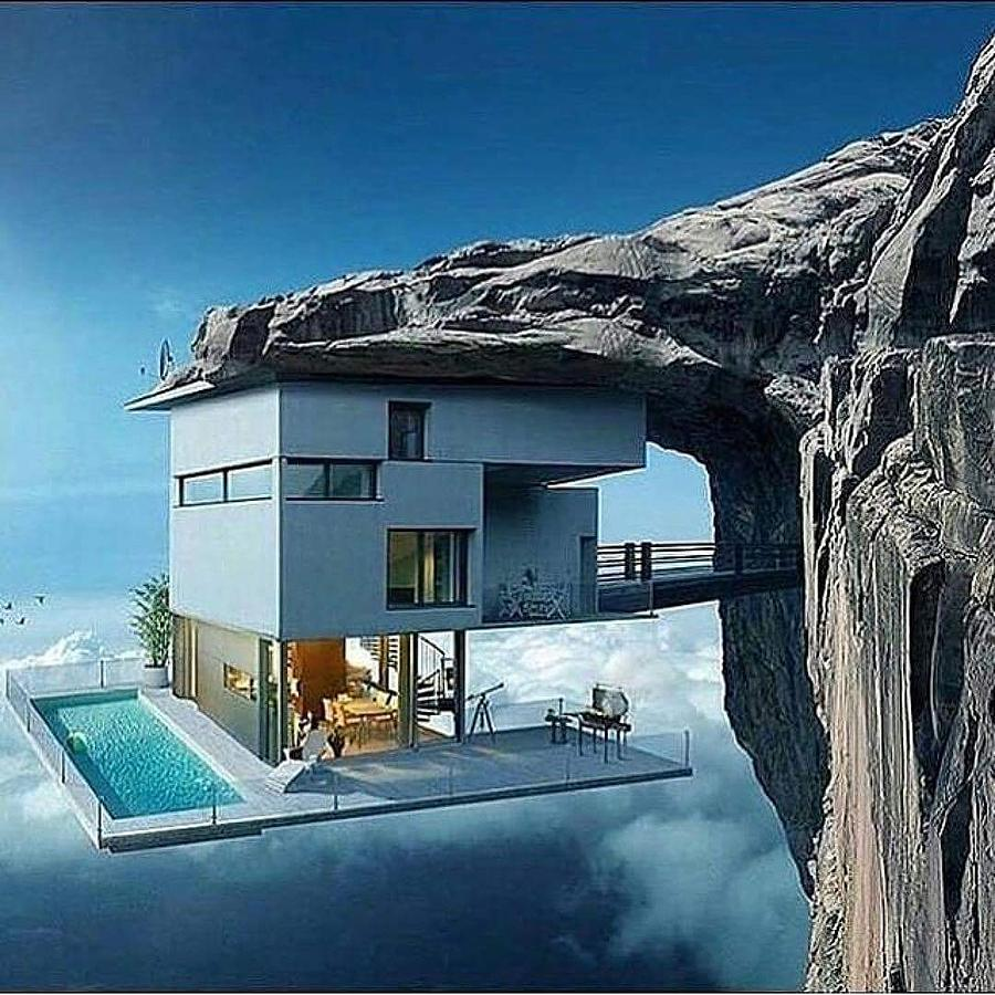 Insane Cliff House Photograph By Durgasrinivas Yarramsetty