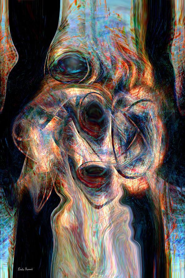 Abstracts Digital Art - Insane by Linda Sannuti