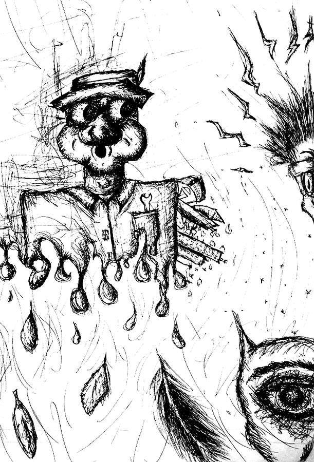 Crazy Drawing - Insanity by Jera Sky