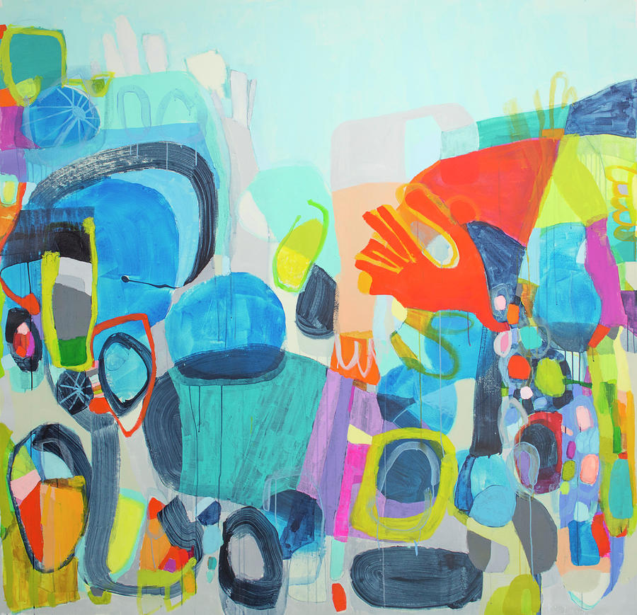 Abstract Painting - Insatiable by Claire Desjardins