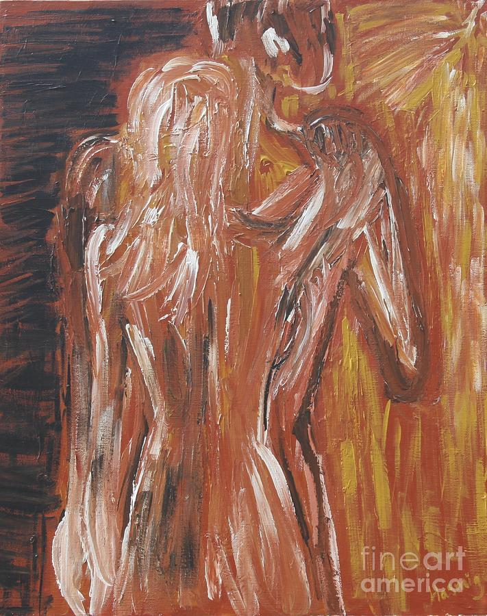 Couple Painting - Inseparable Lovers by Jasmine Tolmajian
