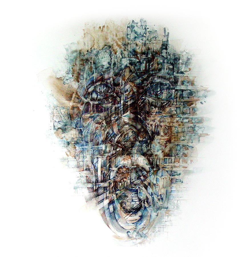 Portrait Painting - Inside 7 by Paula V Puian