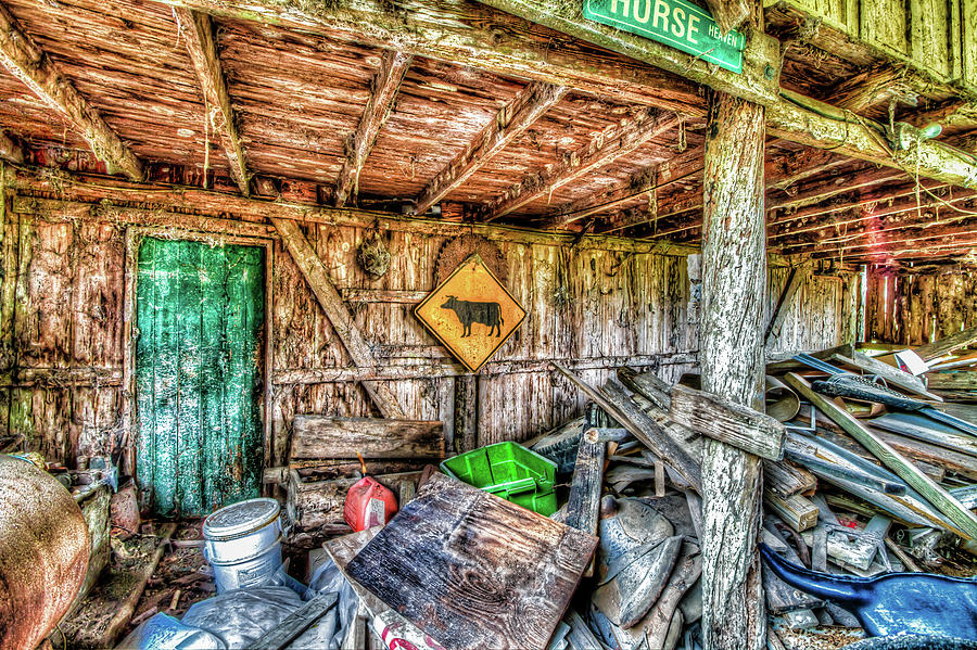 Florida Photograph - Inside Barn by Clyde Scent