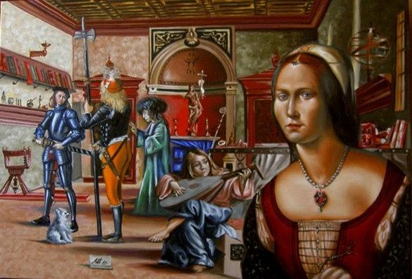 Middle Ages Painting - Inside Carpaccio by Marco Ambrosini
