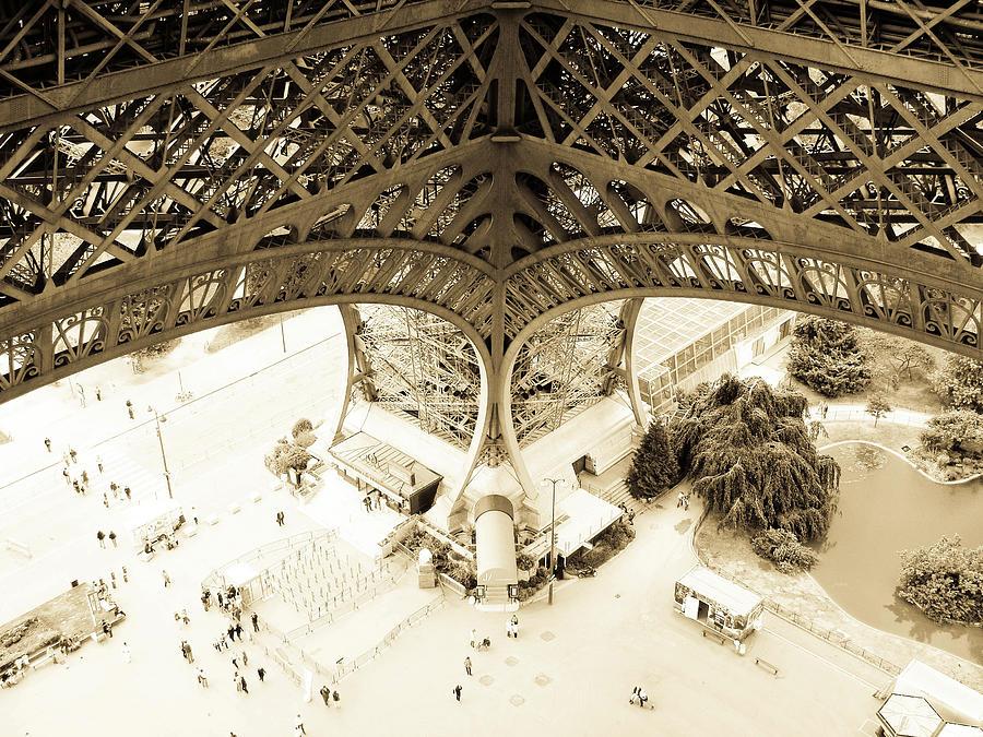 Eiffel Tower Photograph - Inside Eiffel by Patrick Rabbat