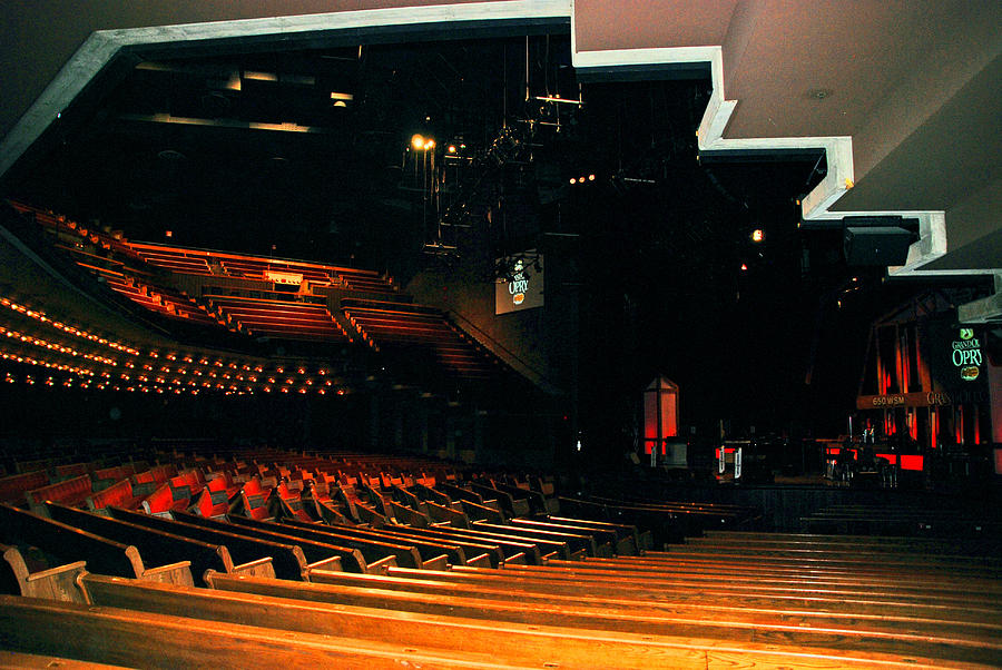 Nashville Photograph - Inside Grand Ole Opry Nashville by Susanne Van Hulst