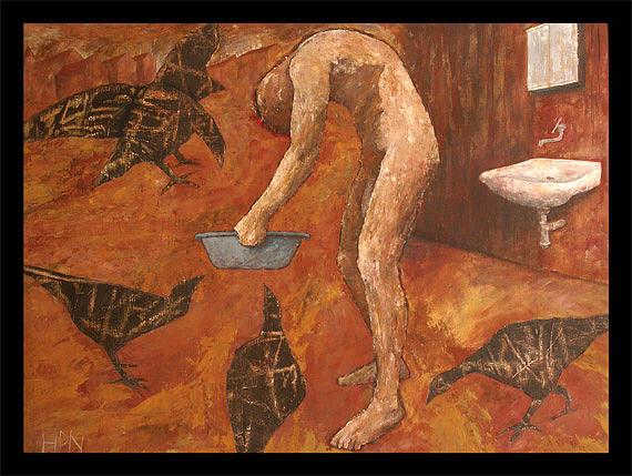 Inside Me Painting by Hugo Petr Novak