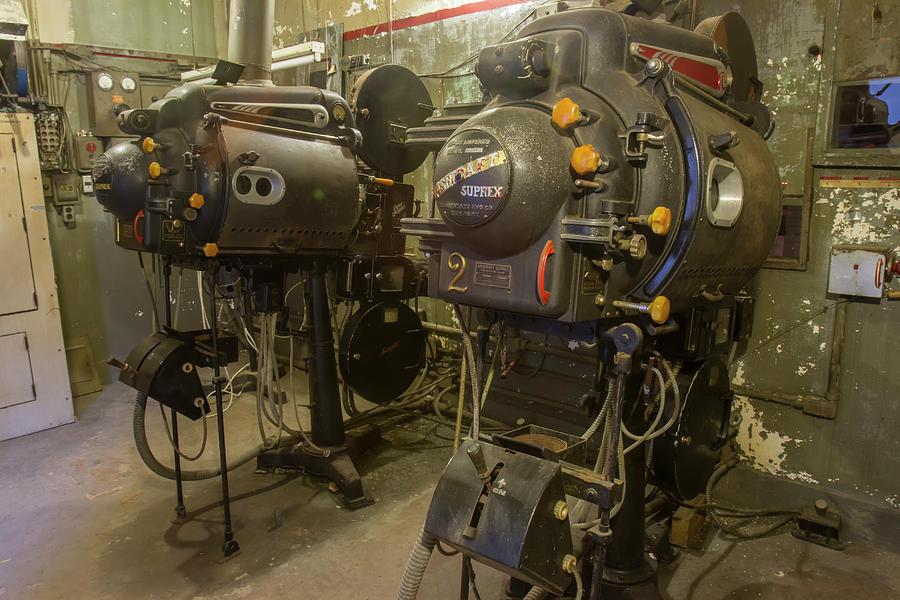 Inside Movie Projection Room In Vintage Cinema Photograph By Karen Foley