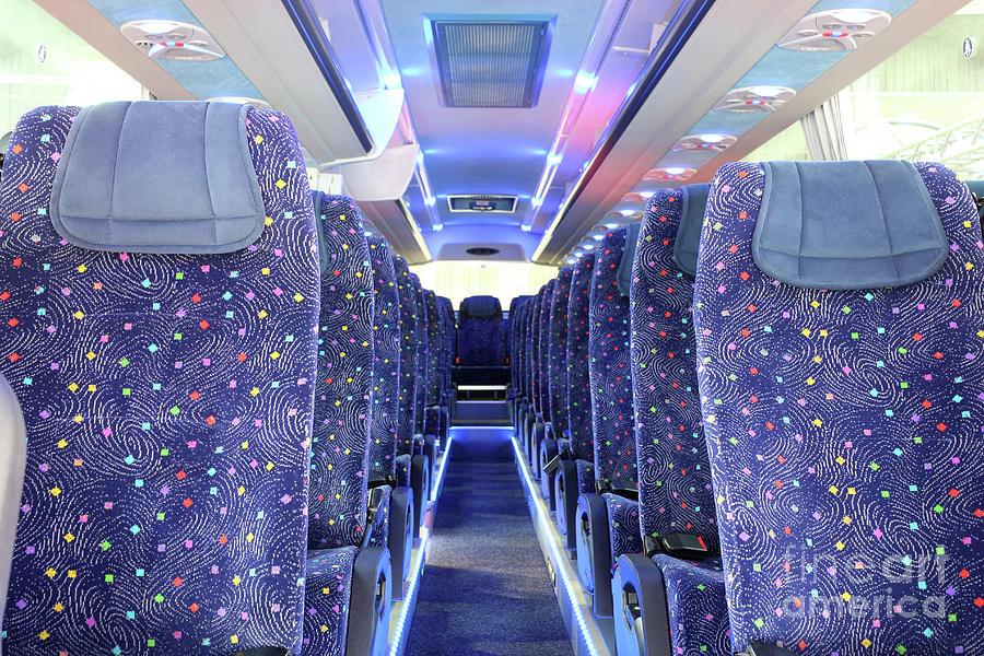 Bus Photograph - Inside Of New Bus  by Goce Risteski
