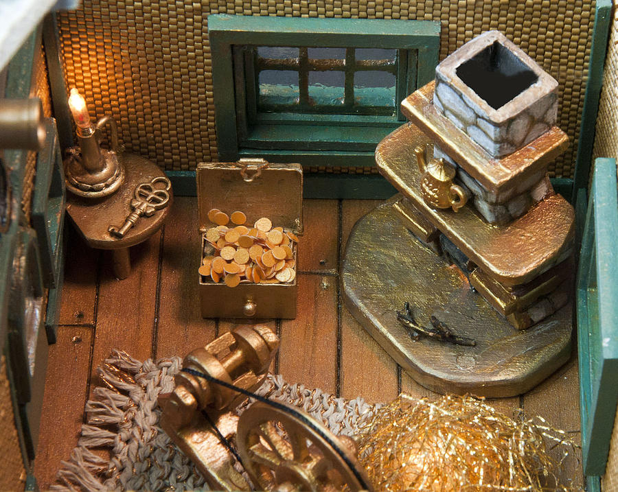 Gold Photograph - Inside Of Spin Teapot by Louise Hill
