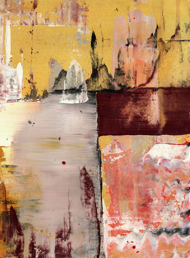 Abstract Painting - Inside Out - Abstract Linear Painting by Modern Abstract
