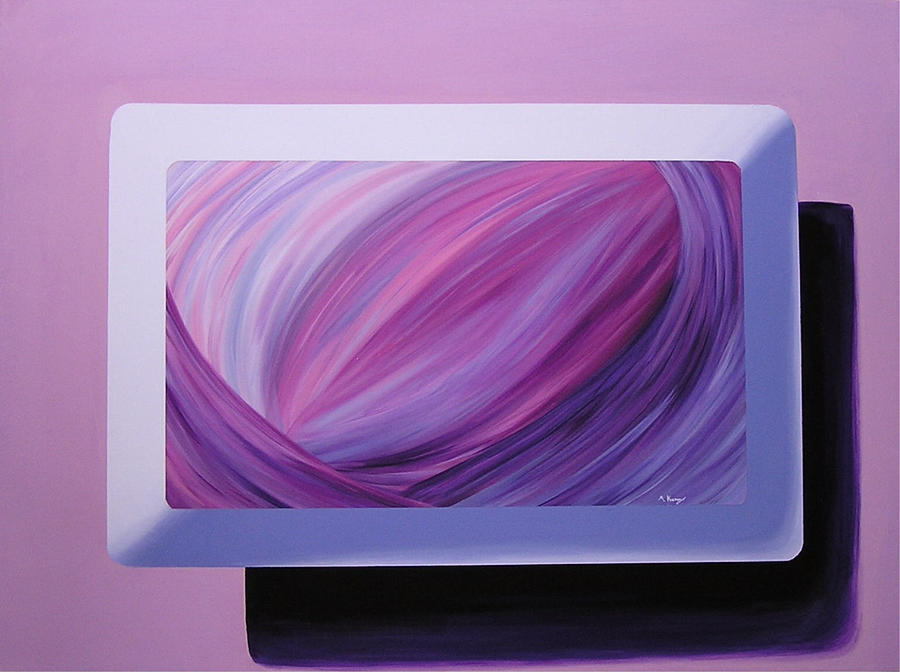 Abstract Painting - Inside Purple by Melissa Joyfully