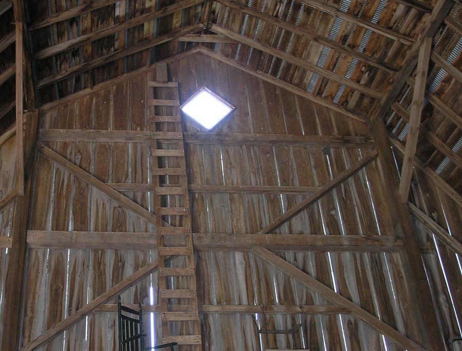 Farm Photograph - Inside The Barn by Janis Beauchamp