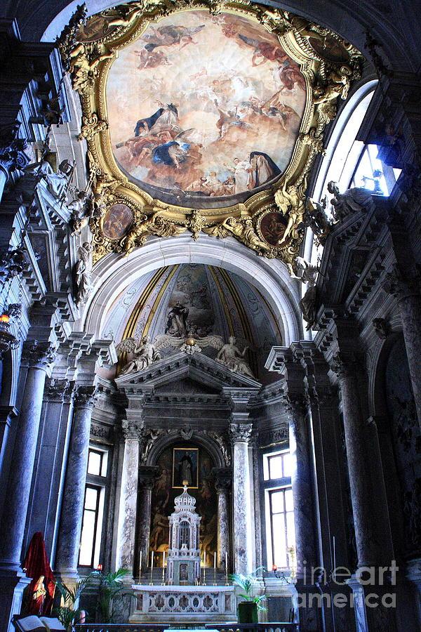 Venice Photograph - Inside the Church Santa Maria della Salute in Venice by Michael Henderson