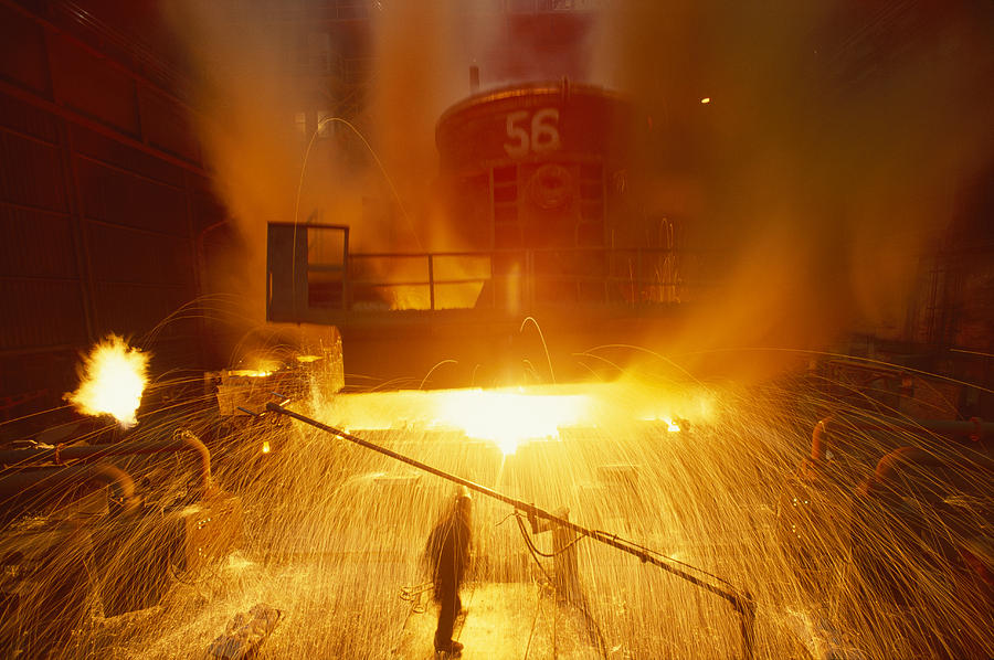 Structures Photograph - Inside The East-slovakian Steel Mill by James L Stanfield