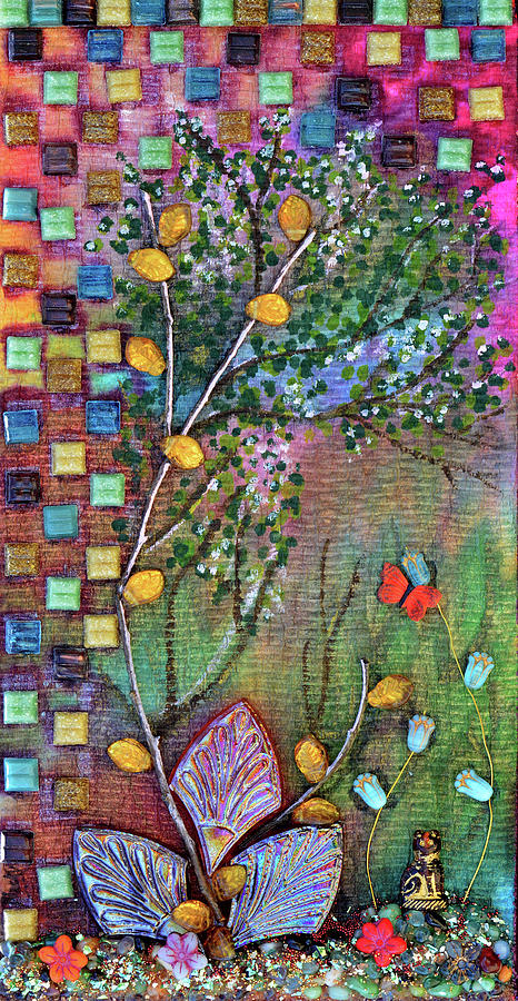 Garden Mixed Media - Inside The Garden Wall by Donna Blackhall
