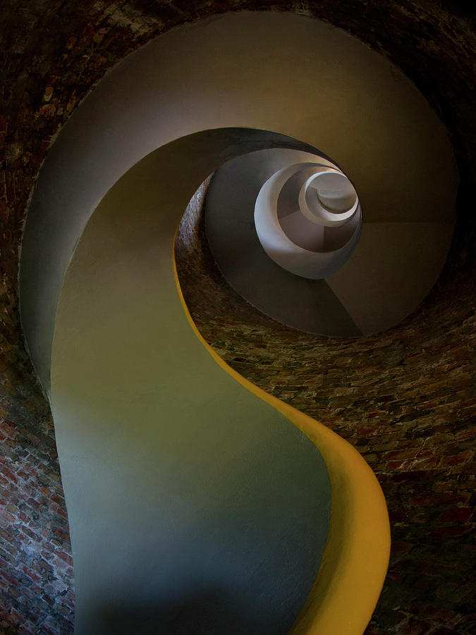 Staircase Photograph - Inside The Old Lighthouse by Jaroslaw Blaminsky