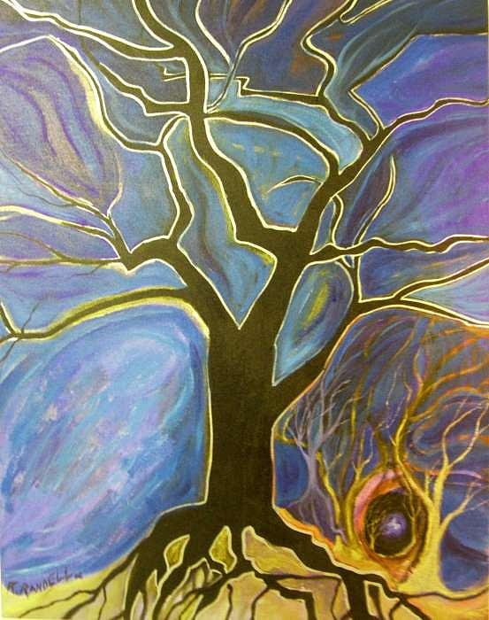 Tree Painting - Inside The Pain by Roy Randell