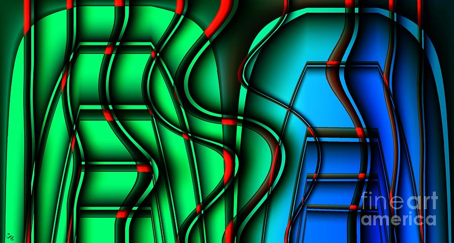 Abstract Digital Art - Inside The Toaster by Ron Bissett