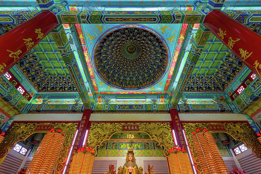 Chinese Photograph - Inside Thean Hou Temple by David Gn